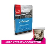 ORIJEN ADULT ORIGINAL DOG 11.4KG + ΔΩΡΟ ΚΟΥΒΑΣ