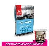 ORIJEN DOG SIX FISH 11.4KG + ΔΩΡΟ ΚΟΥΒΑΣ