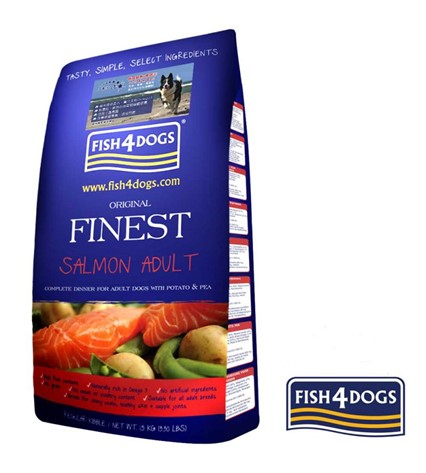 FISH4DOGS FINEST SALMON COMPLETE 12KG LARGE BITE