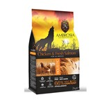 AMBROSIA GRAIN-FREE DOG ADULT CHICKEN &FRESH SALMON 12Kg.