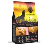 AMBROSIA GF DOG GROWTH CHICKEN & FISH LARGE BREED 12Kg.