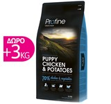 PROFINE PUPPY CHICKEN & POTATOES 15Kg+3Kg ΔΩΡΟ
