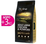PROFINE ADULT LARGE CHICKEN & POTATOES 15Kg+3Kg ΔΩΡΟ