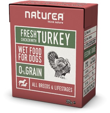 NATUREA FRESH CHICKEN TURKEY 12 X 375gr