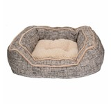 LUXURY SLATE & OATMEAL SQUARE BED 70cm 04434