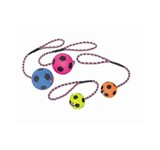 NOBBY RUBBER SOCCER BALL WITH ROPE LG