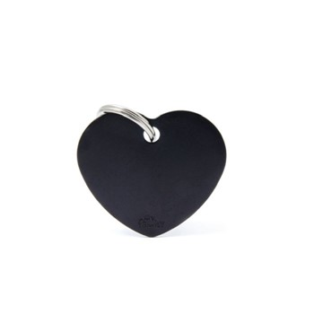 ΤΑΥΤΟΤΗΤΑ BASIC ALUMINIUM BIG HEART BLACK