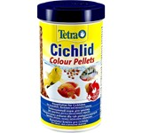 TETRA CHICHLID COLOUR PELLETS 500ml/165gr